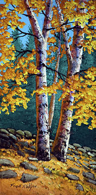 September Birches Art Print