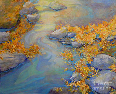 Midwest Artist Painting - September Creek by Sharon Nelson-Bianco