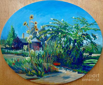 Bfa Painting - September Garden by Vanessa Hadady BFA MA
