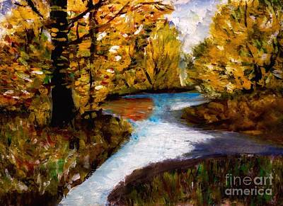 Painting - September Gold by Joan-Violet Stretch