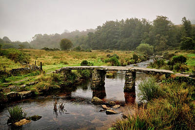 Photograph - Historic Clapper Bridge by Shirley Mitchell