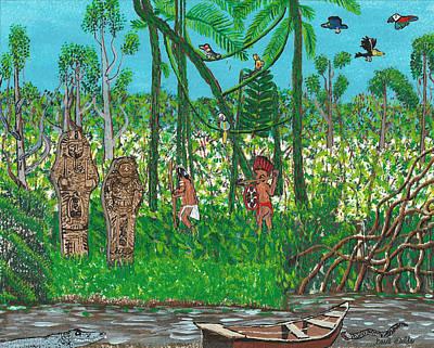 September   Hunters In The Jungle Art Print