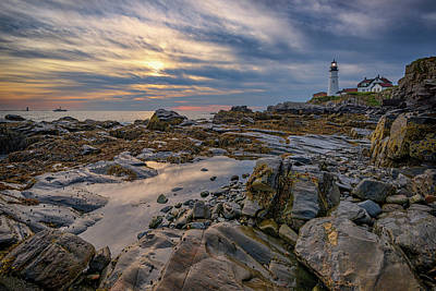 September Morn At Portland Head Art Print