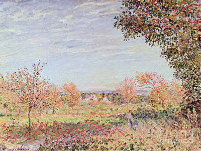 Alfred Sisley Painting - September Morning by Alfred Sisley