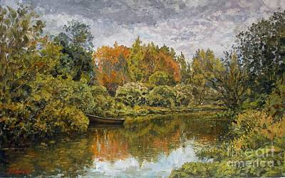 Realism Painting - September. On The River by Andrey Soldatenko