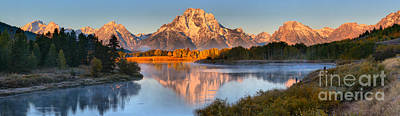 Photograph - September Oxbow Bend Panorama by Adam Jewell