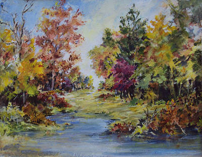 Painting - September Pond by Diane Ursin