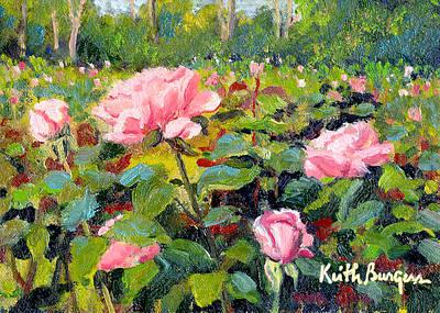 September Roses Art Print by Keith Burgess