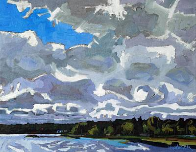 July Painting - September Sky 2013 by Phil Chadwick