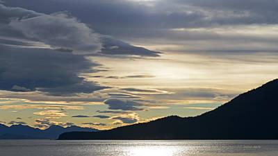 Photograph - Glacier Bay Sunrise by Connie Fox