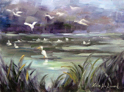 Iconic Painting - September Slough by Karin  Leonard