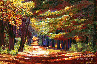 Fallen Leaf Painting - September Song by David Lloyd Glover