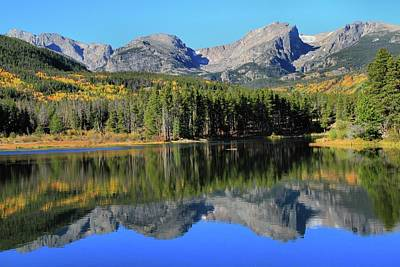 Photograph - September Sprague Lake Reflection by Dan Sproul