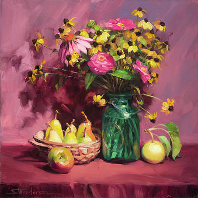 Glass Art Painting - September by Steve Henderson