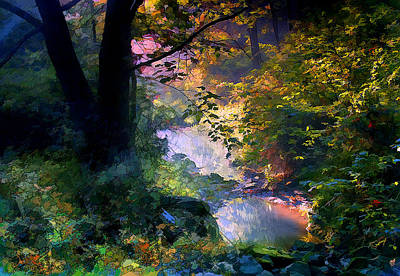 Ron Jones Digital Art - September Stream by Ron Jones
