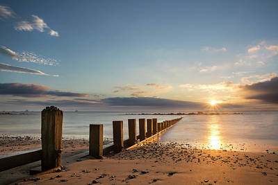September Sunrise At Aberdeen Beach Art Print