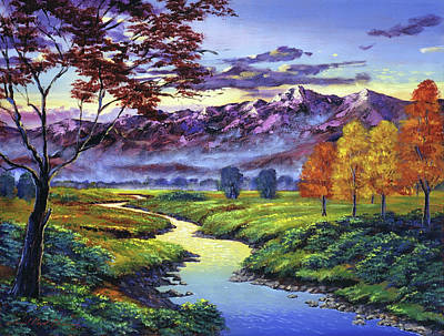 Painting -  September Sunrise by David Lloyd Glover