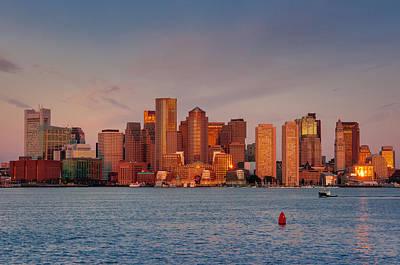 Photograph - September Sunrise Over Boston, Boston, Massachusetts by Thomas Gaitley