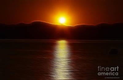 Fractalius Photograph - September Sunset by Deborah Benoit
