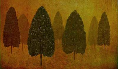 September Trees  Art Print by David Dehner