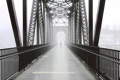 Art Print featuring the photograph Septembers Bridge by Bob Orsillo