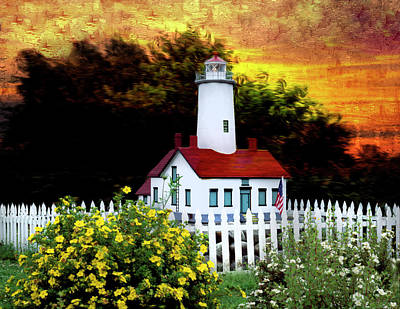Photograph - Sequim-dungeness Lighthouse - Remastered by Carlos Diaz