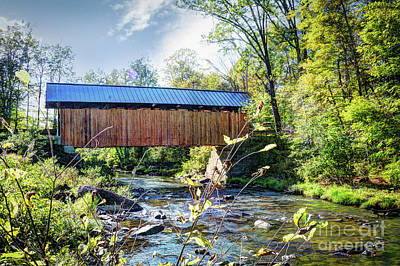 Photograph - Sequin Covered Bridge  by Deborah Klubertanz