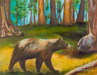 Giant Sequoia Painting - Sequoia Bear by Stacey Best
