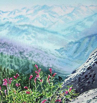 Sequoia Painting - Sequoia Mountains by Irina Sztukowski