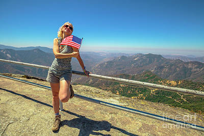 Photograph - Sequoia National Park Flag by Benny Marty
