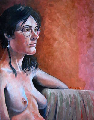 Painting - Sera With Spectacles by Ray Agius
