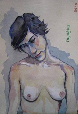 Drawing - Sera Sketch No.7 by Ray Agius