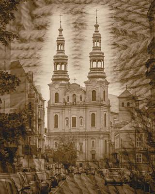 Photograph - Seraphic St Francis Church Facade Poznan Poland by Jacek Wojnarowski