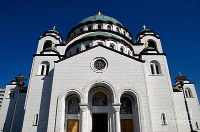 Photograph - Serb Orthodox Cathedral Church Of St Sava Belgrade Serbia by Imran Ahmed