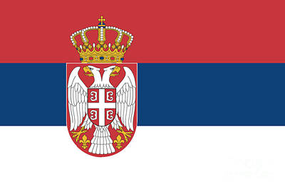 Serbia Mixed Media - Serbia Flag by Frederick Holiday