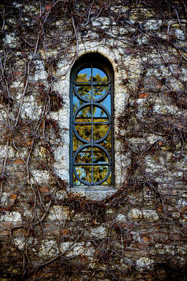 Serbian Church Window Art Print by Stelios Kleanthous
