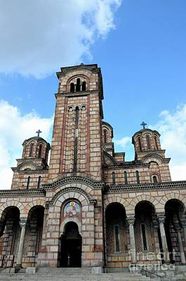 Photograph - Serbian Orthodox Church Of Saint Mark Belgrade Serbia by Imran Ahmed