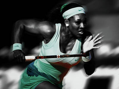 Mixed Media - Serena Getting At It by Brian Reaves