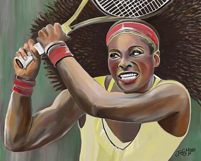 Serena Art Print by James  Mingo