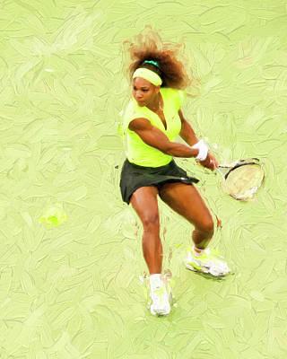 Serena Williams Photograph - Serena by Jim Simpson