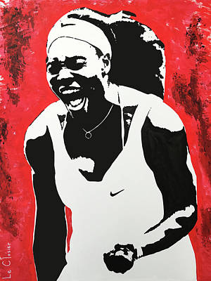 Serena Williams Painting - Serena by Le Closier