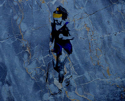 Venus Williams Mixed Media - Serena Victories Etched In Stone by Brian Reaves
