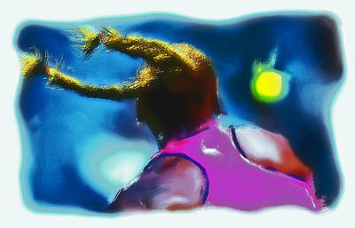 Venus Williams Painting - Serena Smash by Brian Reaves