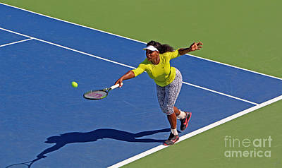 Athletes Royalty-Free and Rights-Managed Images - Serena Williams 1 by Nishanth Gopinathan