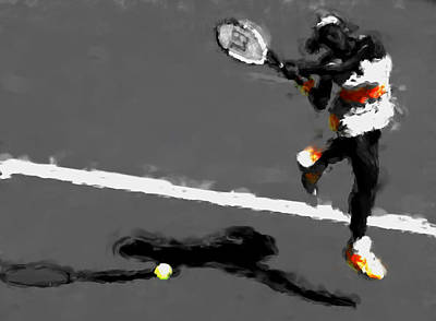 Serena Williams Mixed Media - Serena Williams 5r by Brian Reaves