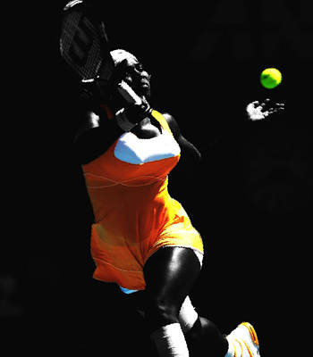 Serena Williams Mixed Media - Serena Williams 6b by Brian Reaves