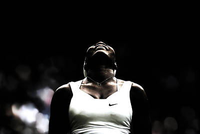Serena Williams Photograph - Serena Williams All Things Are Possible by Brian Reaves