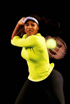 Venus Williams Digital Art - Serena Williams Bamm by Brian Reaves