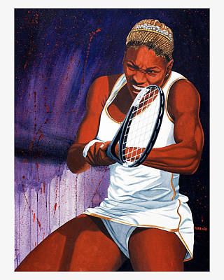 Serena Williams Drawing - Serena Williams by Brett Farr