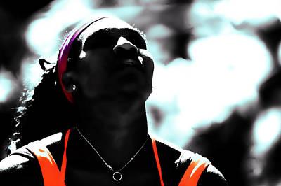 Venus Williams Digital Art - Serena Williams Deep Breath by Brian Reaves